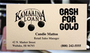 Kamaaina Loan & Cash For Gold Retail Store