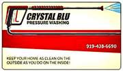 Crystal Blu Pressure Wash